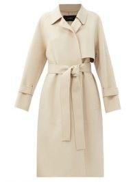 JOSEPH Cottrell felted wool-blend trench coat | beige waist tie coats