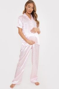 DANI DYER MATERNITY PINK LEOPARD PRINT PYJAMA SET ~ pyjamas ~ nightwear