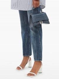 BALENCIAGA Distressed cropped straight-leg jeans | designer denim | casual style