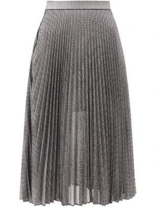 CHRISTOPHER KANE DNA pleated metallic tulle midi skirt / shimmering silver skirts - flipped