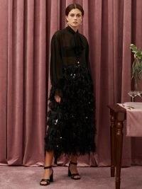 sister jane Ruffle Ready Bow Midi Dress | romantic neck tie dresses | feminine occasion wear