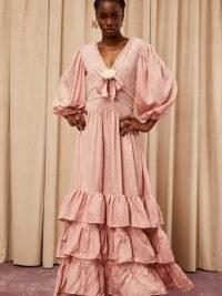 sister jane DREAM Wine and Dine Maxi Dress Orchid Pink