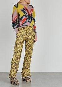 DRIES VAN NOTEN Madam floral-intarsia alpaca-blend jumper – bold flower patterned jumpers