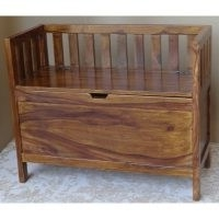 Wood Storage Bench by Ethnic Elements