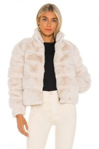 Generation Love Jodi Faux Fur Jacket – neutral winter jackets – glamour – glamorous outerwear