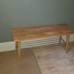 Jacqueline Wood Hallway Bench by George Oliver