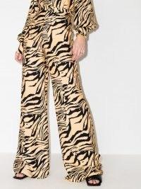 USISI SISTER Antonia tiger-print wide-leg trousers | wild animal prints