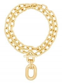 Paco Rabanne double-wrap chain necklace ~ chunky designer fashion jewellery ~ statement necklaces