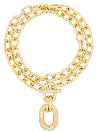 Paco Rabanne double-wrap chain necklace ~ chunky designer fashion jewellery ~ statement necklaces - flipped