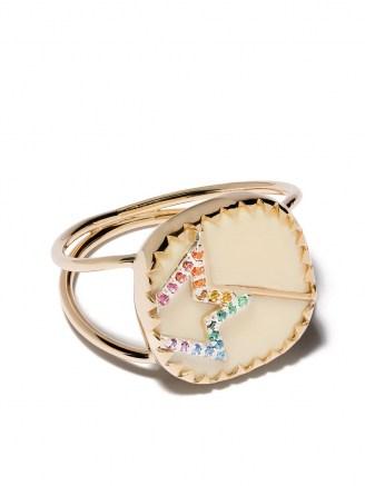 Pascale Monvoisin 9kt yellow gold diamond Varda Nº2 ring / flat style rings / jewellery