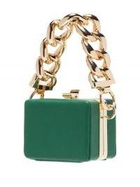 16Arlington Ralphie mini bag | tiny green handbags | chunky chain strap box bags