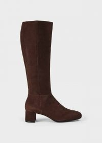 HOBBS HAILEY FLEXI KNEE BOOT – chocolate-brown winter boots – casual footwear