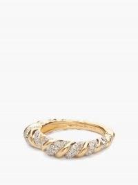 YVONNE LÉON Heart Alliance diamond & 18kt gold ring ~ luxe rings ~ fine jewellery ~ diamonds