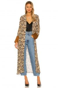 House of Harlow 1960 x REVOLVE Leopard Silky Robe