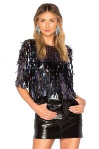 House of Harlow 1960 x REVOLVE Marcel Top ~ shimmering sequinned tops ~ evening glamour