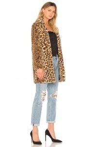 I.AM.GIA Sahara Faux Fur Coat in Leopard ~ glamorous wild animal print winter coats