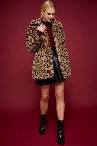 TOPSHOP IDOL Leopard Print Faux Fur Jacket / wild animal prints / fluffy winter coats