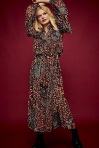 TOPSHOP IDOL Leopard Print Kaftan Dress