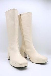 storets Pleather Zip Up Boots | retro footwear