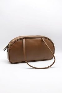 storets Wide Pleather Shoulder Bag | brown faux leather bags