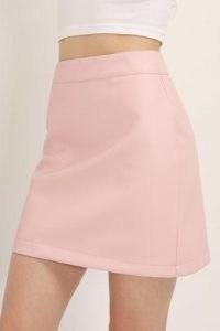 STORETS Sadie Pleather Mini Skirt | pink faux leather skirts