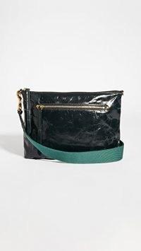 Isabel Marant Nessah Bag ~ dark green crinkled leather bags