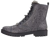 Jessica Simpson Kalirah2 in pewter embellished hiker boot ~ shimmering lace up boots