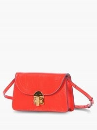 MARNI Juliette leather shoulder bag / red leather bags