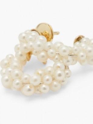 YVONNE LÉON Lady Pearl 18kt gold earrings / feminine jewellery / pearls