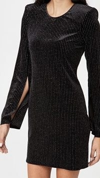 L'AGENCE Eden Mini Dress ~ lbd ~ metallic thread dresses ~ party fashion