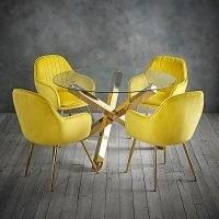 Laila 4 Seater Dining Set – Ochre