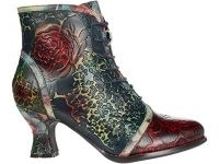 L'Artiste by Spring Step Concert floral lace up boot ~ vintage style hand painted boots