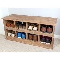 Idell School Locker Style Wood Storage Bench by Laurel Foundry