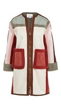 L.F. Markey Heath Colorblocked Coat ~ colour block winter coats