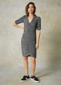 Me+Em Lurex Ruched Front Dress ~ a touch of everyday glamour ~ metallic thread dresses ~ me and em clothing ~ meandem