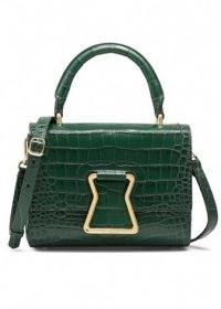 Me+Em Maddy Croc Crossbody Bag ~ emerald-green crocodile effect bags ~ me and em handbags