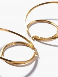 COMPLETEDWORKS Manifold 14kt gold-vermeil & topaz hoop earrings / large embellished double hoops / statement jewellery