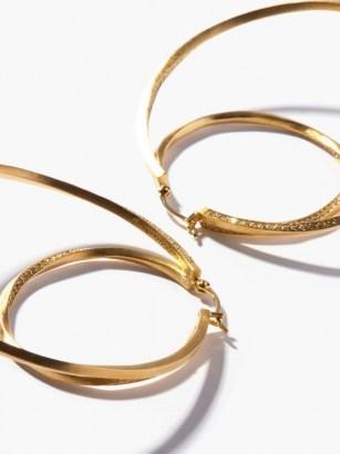 COMPLETEDWORKS Manifold 14kt gold-vermeil & topaz hoop earrings / large embellished double hoops / statement jewellery