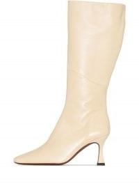 Manu Atelier XX Duck 80mm knee-high boots in vanilla-beige | luxe winter square toe boots