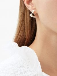 SOPHIE BILLE BRAHE Mary pearl & 14kt gold hoop earrings ~ pearls ~ feminine jewellery