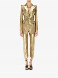 Metallic Moiré Jacket   gold evening jackets