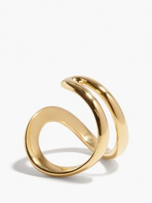 ANA KHOURI Mirian 18kt gold ring ~ contemporary curved rings ~ modern jewellery - flipped