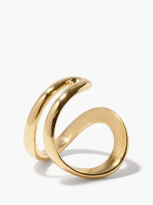 ANA KHOURI Mirian 18kt gold ring ~ contemporary curved rings ~ modern jewellery