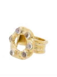 Mondo Mondo moonstone detail ring | textured statement rings | boho jewellery