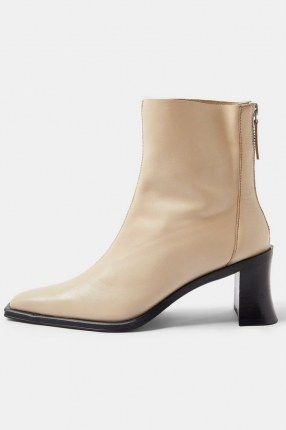 Topshop MONEY Leather Heeled Boots   neutral winter footwear - flipped