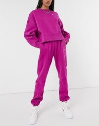 Nike Swoosh oversized purple tracksuit ~ tracksuits ~ casual fashion