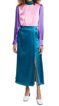 Olivia Rubin Gwen Dress ~ colour block silk satin dresses