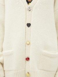 VETEMENTS Cream oversized multi-button cardigan ~ drop shoulder cardigans