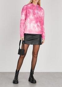 PACO RABANNE X Peter Saville tie-dyed cotton sweatshirt in rose / pink hooded sweatshirts