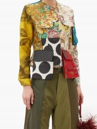 MARQUES'ALMEIDA Patchwork upcycled cotton-blend twill jacket / mixed floral print jackets